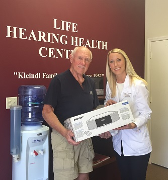 W. Etzkorn of Naples, our latest Bose Radio winner!