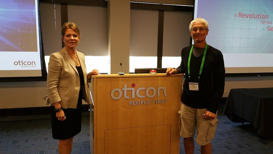 Dr. Whiteside at Oticon Conference