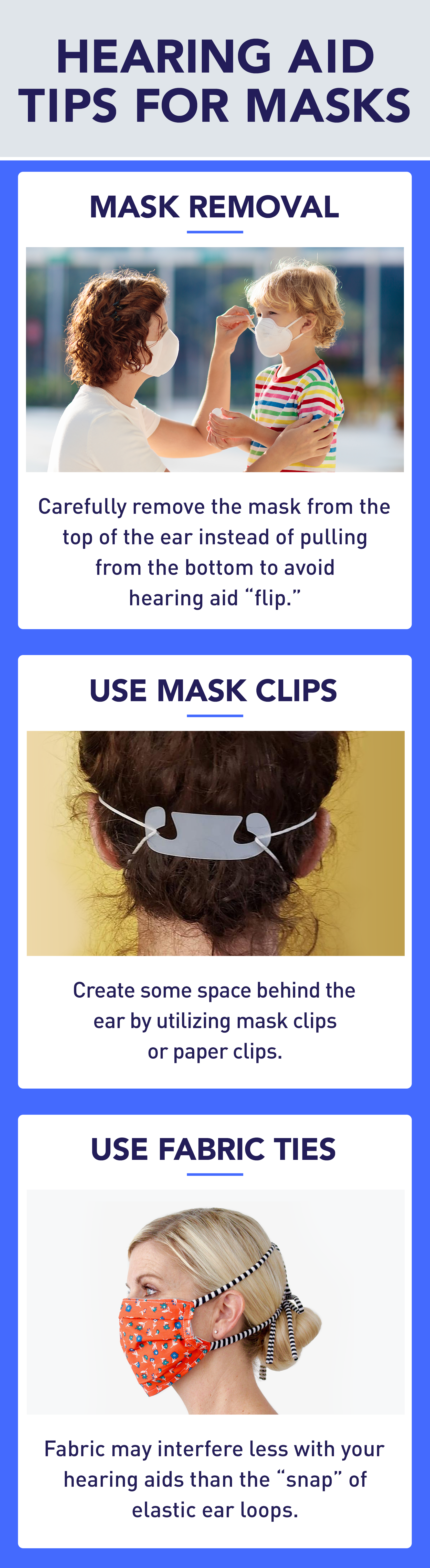 Hearing Aid Mask Tips